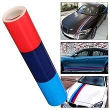 1.5 M M Kleur Strepen Rally Side Hood Racing Motorsport Vinyl Decal Sticker Strip Bumper Motorkap Voor Bmw