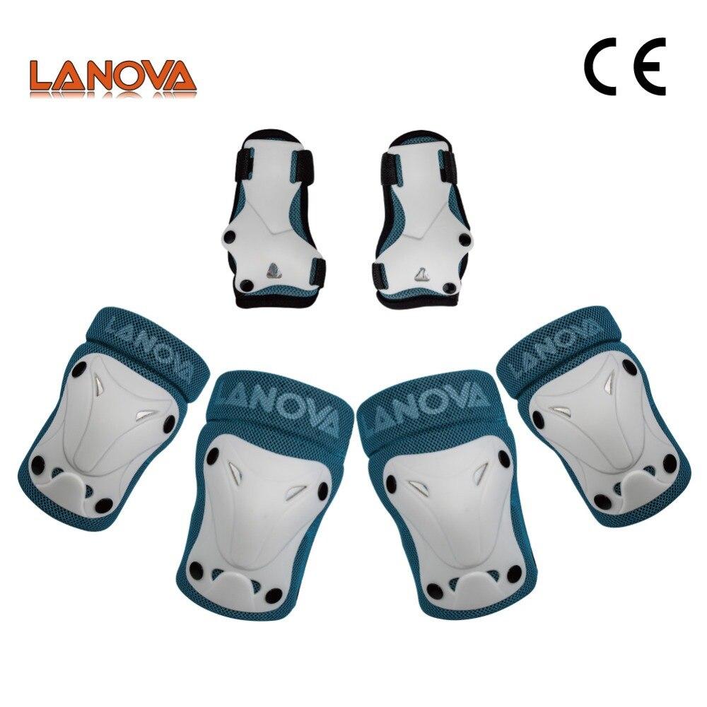LANOVA conjunto de equipo de protección ajustable para niños 6 uds para patinaje sobre hielo multideportes Rollerblade bicicleta de ciclismo