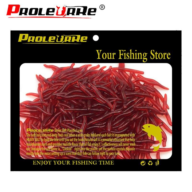 100 Uds 3,5 cm 0,25g señuelo suave gusanos rojos pesca con lombrices de tierra cebos gusanos trucha pesca señuelos aparejos de pesca cuchara jigs