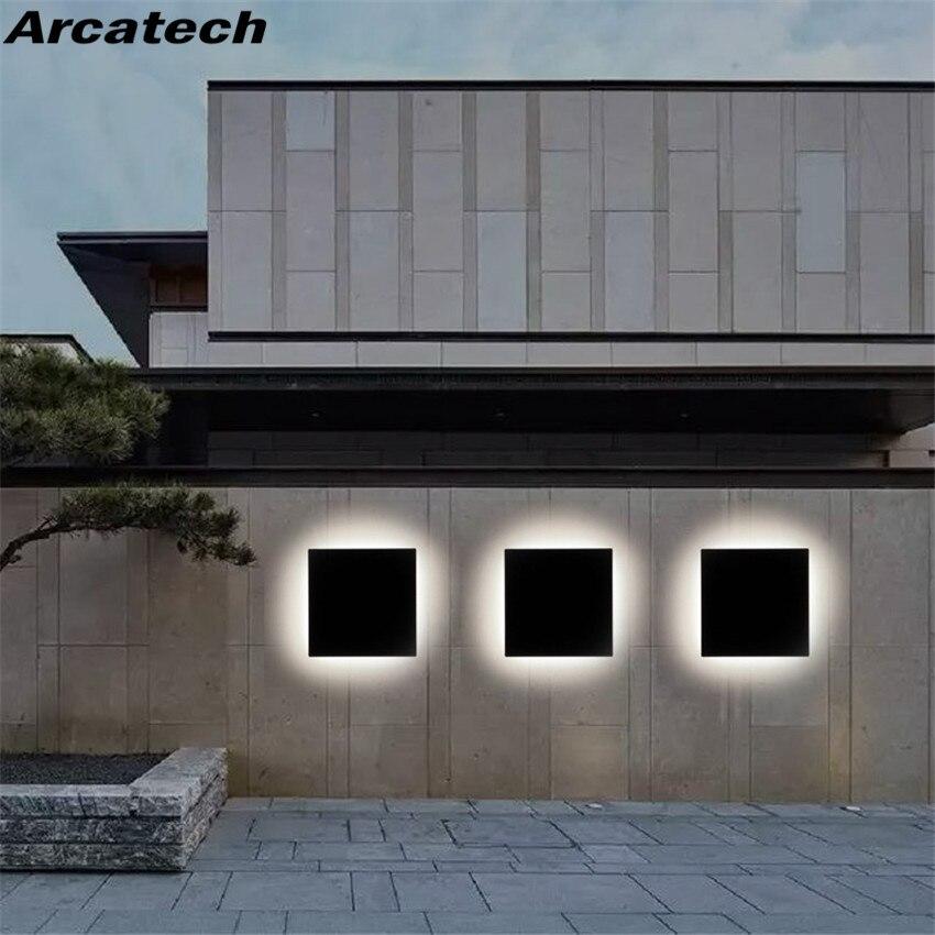 luz de led para parede externa a prova dagua luminaria quadrada de parede para jardim
