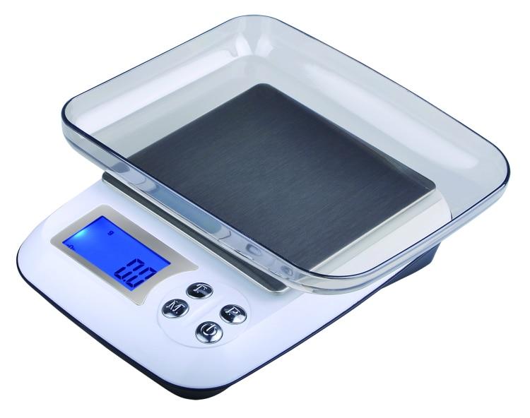 Báscula Digital para cocina 2000g/1g 2 kg, báscula Postal para alimentos, báscula electrónica LED para medir el peso