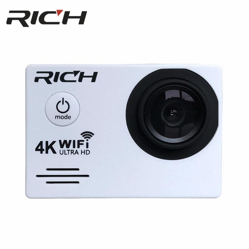 "DHL 10pcs/lot  RICH DVSJ700 Action Camera WiFi Ultra HD 4K Underwater 30M Outdoor Sports Camera 2.0"" LCD 1080p 60fps Camera"