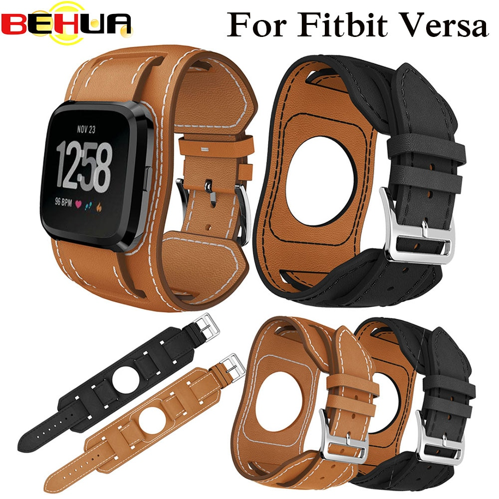 Genuine Leather Wrist band for Fitbit Versa Sport Watch Strap Bracelet for Fitbit Versa Smart Watch Straps Wriststrap Watchbands