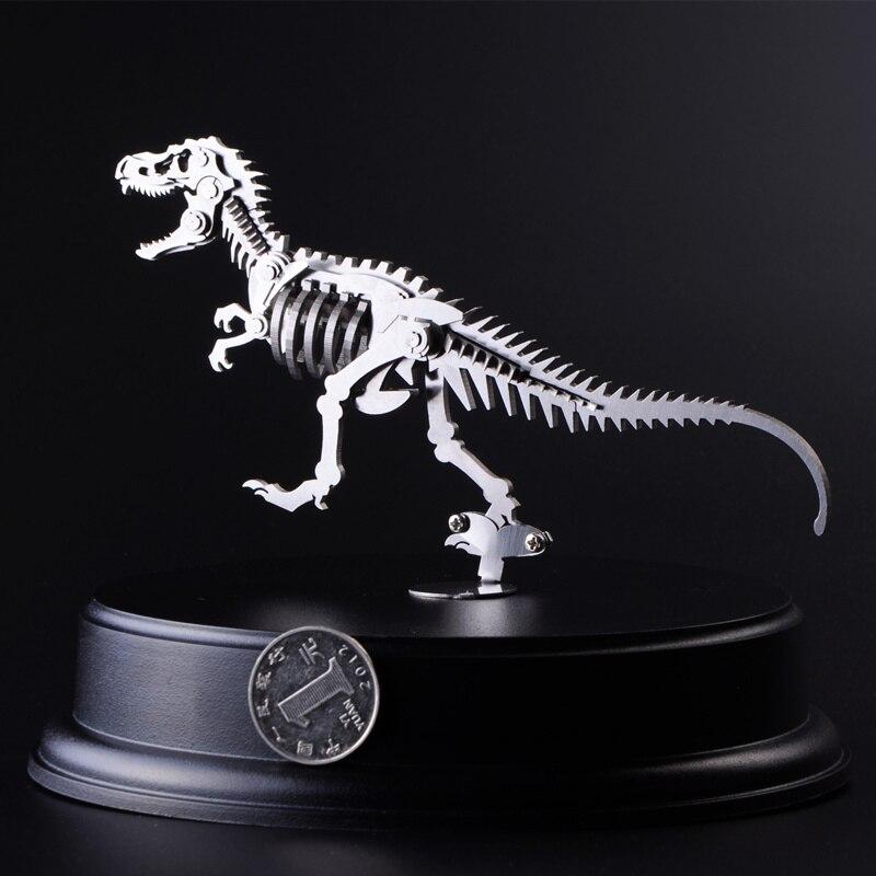 Tyrannosaurus Rex 3D Steel Metal DIY Joint Mobility Miniature Model Kits Puzzle Toys Educational Boy Splicing Hobby Building