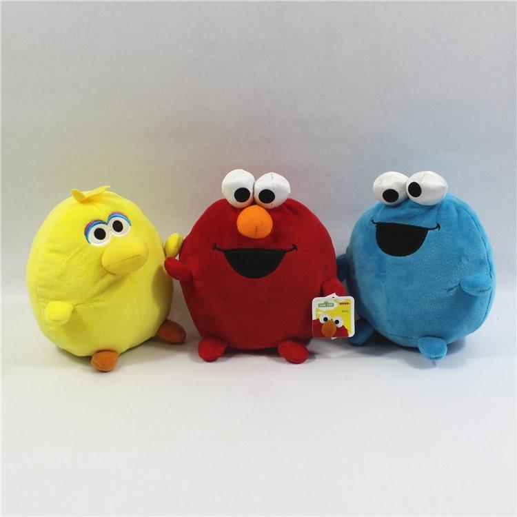 1 unidad de 15cm, juguetes de peluche de la Calle Sésamo, Elmo, galleta, monstruo, gran muñeco de pájaro para niños, regalos y cumpleaños