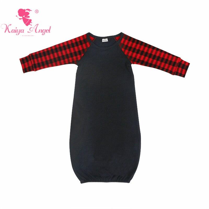 Ángel Kaiya, vestido de dormir para recién nacido, rojo, negro, a cuadros, de manga larga, para niños y niñas, saco de dormir, ropa de Navidad para bebés pequeños, 2018