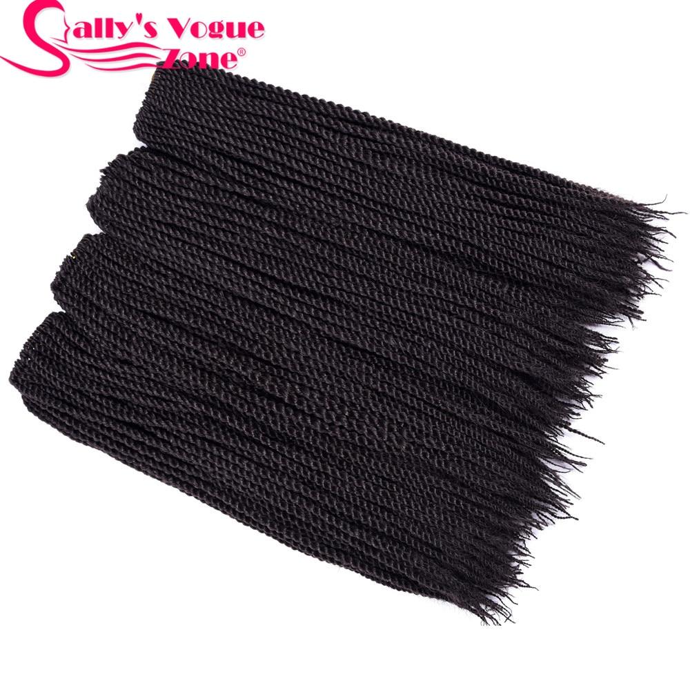 5packs 30 strands 1 pack Sallyhair Senegalese Synthetic Senegal Crochet Twist Braids Hair 2X 10 Colors Ombre Braiding Hair