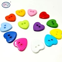 limited botones hl15mm 50100pcs 2 holes heart resin buttons mixed colors apparel sewing accessories diy scrapbooking crafts