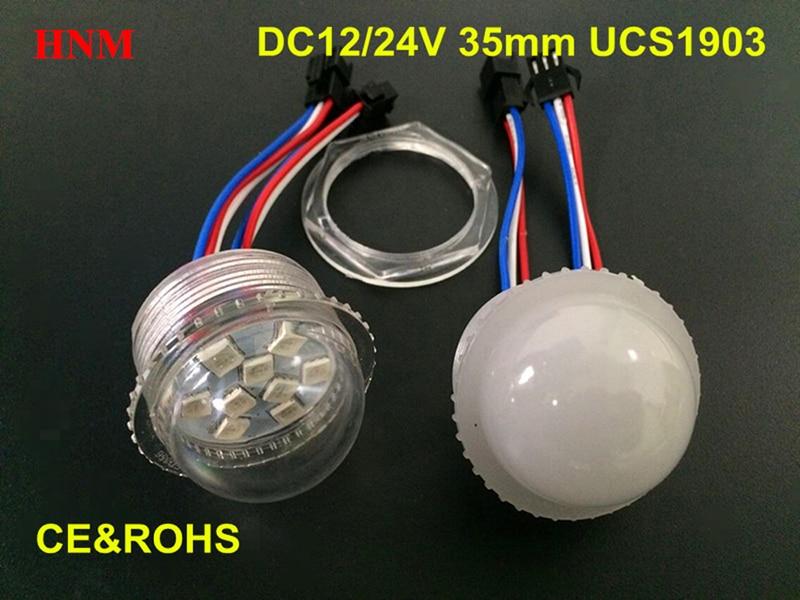 12 V 24 V 35mm 6 LEDs 9 LEDs SMD 5050 rgb do pixel UCS1903 levou módulo de luz, à prova d água digital full color luzes passeio de diversões parque de diversões