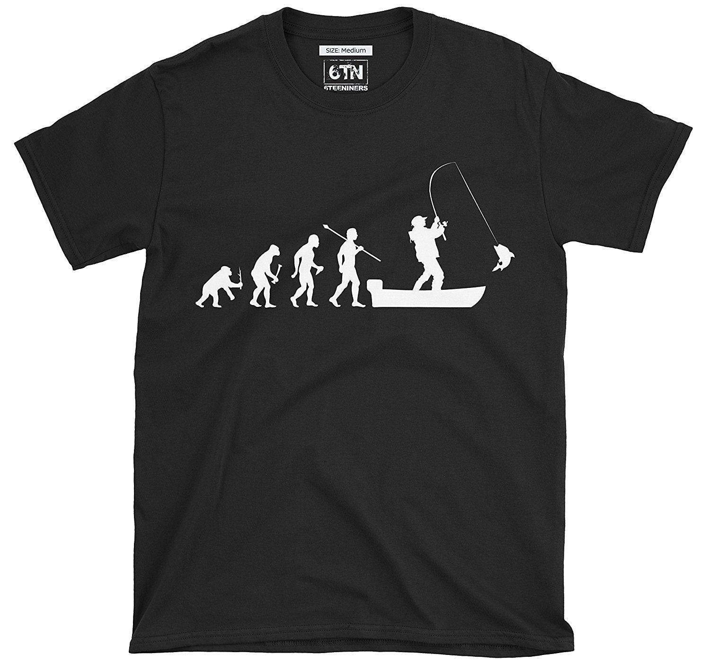 Мужская футболка с принтом «Эволюция человека в лодку», забавная футболка, лето 2019