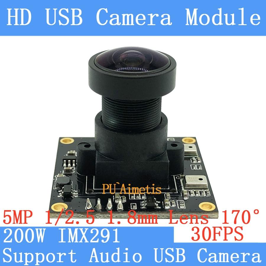 Puaiaimetis sony imx291 estrela nível câmera de vigilância grande angular 1920*1080p 30fps linux uvc 2mp usb módulo de câmera suporte de áudio