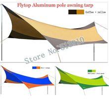 Flytop aluminum alloy pole 5 6 8 person 550cm*560cm UV beach tent sun shelter fishing pergola outdoor camping tent awning tarp