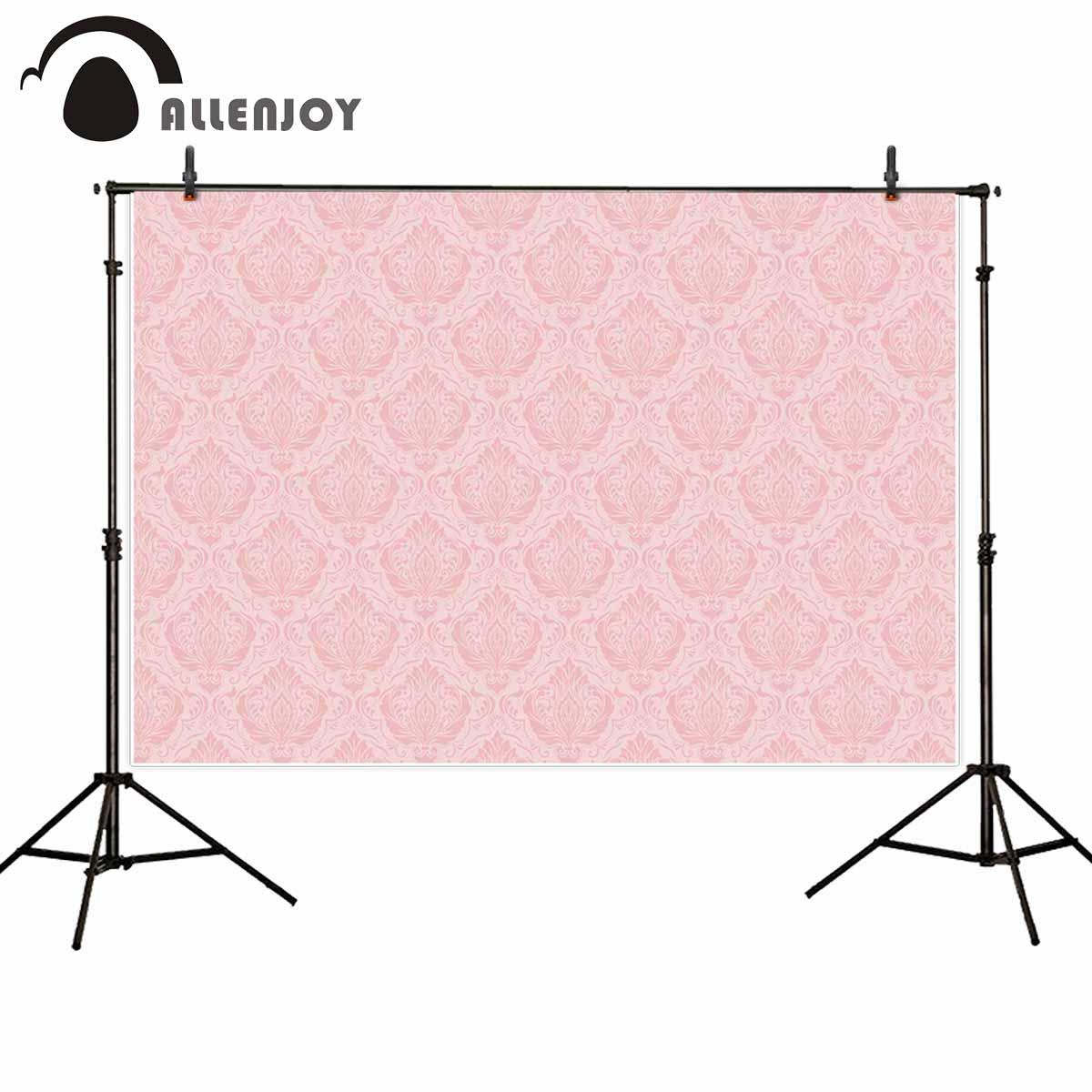 Allenjoy rosa damast hintergrund für foto studio geburtstag dessert tisch decor hintergrund photo fotografie für mädchen partei