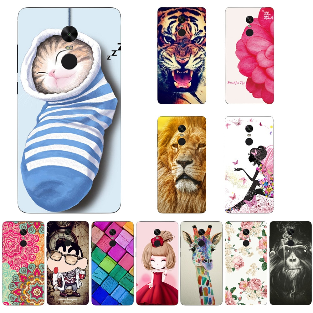 Color Cartoon Design Color Case For Xiaomi Redmi Note 4 5 5A 4A Mi Mix 2 Soft Silicone Full Back Cov