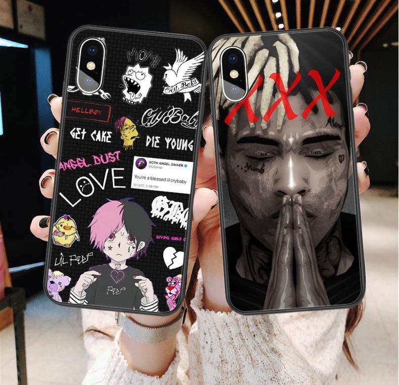 Lil peep Más vibrações para sempre Caso Para iPhone X 5S SE 6 s 7 8 Plus Xxxtentacion Caso Coque Silicone para o iphone XS MAX XR Tampa Traseira