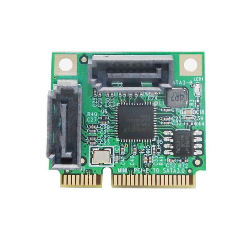 Mini PCI-Express SATAIII 3,0 6Gbps ASM1061 controlador de tarjeta de Mini PCIE...