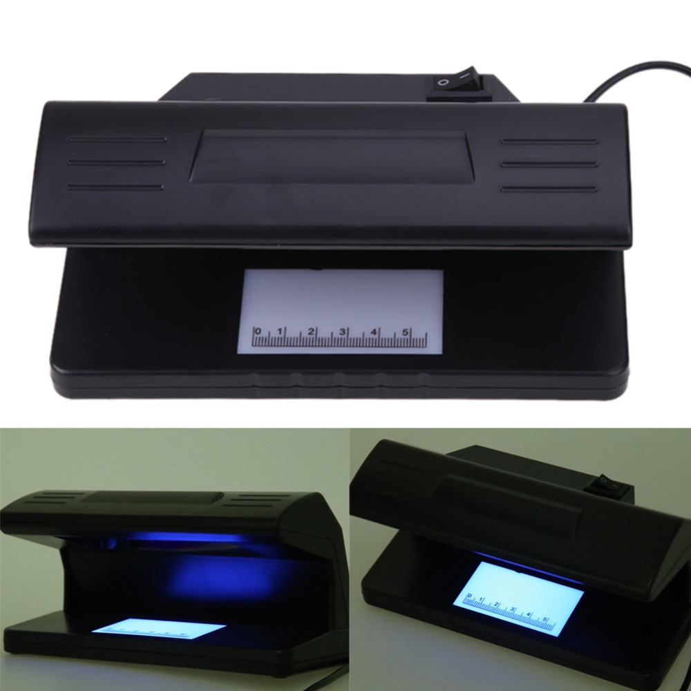 EU 4W UV Light Money Detector Checker Practical Counterfeit Money Tester Bill Currency Fake Detector Machine with ON/OFF Switch