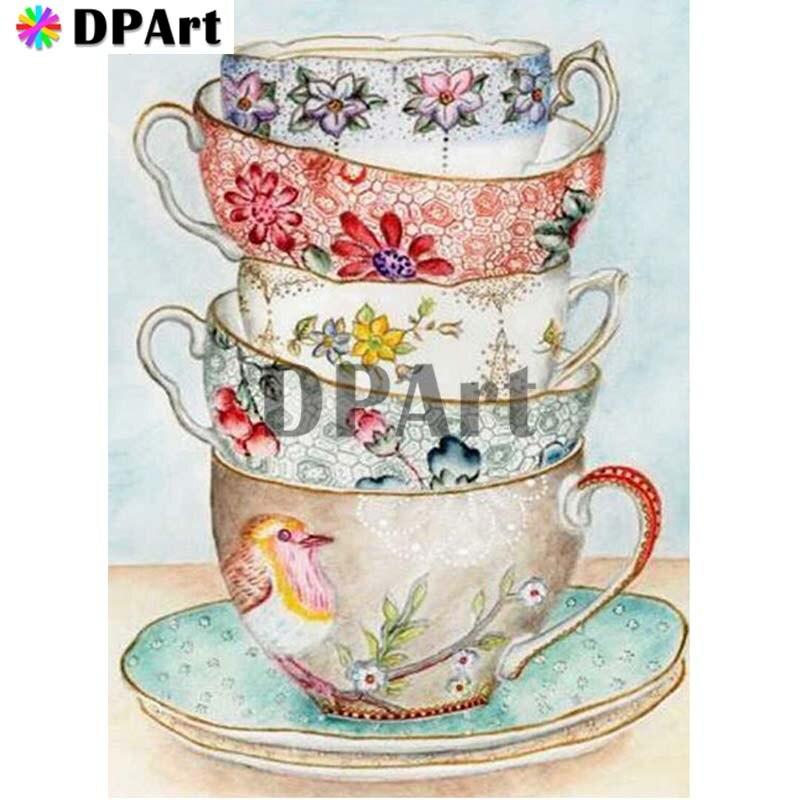 Pintura de diamante 5D cuadrado completo/redondo taladro café taza 5D Daimond pintura de bordado Cruz puntada, imagen con mosaico M999