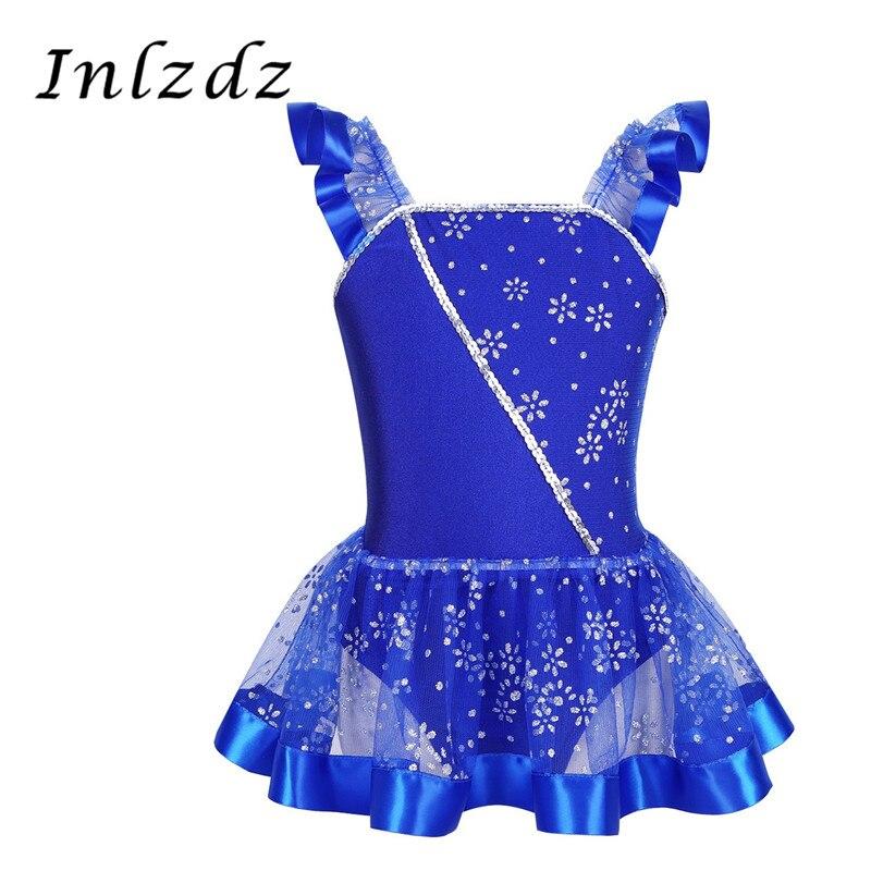 Vestido de leotardo de ballet para niñas traje de gimnasia para bailar con falda bailarina tul traje de baile leotardo infantil