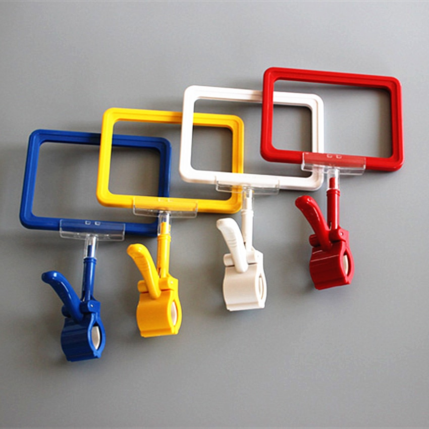 POP A6 Plastic Signs Price Paper ABS Frame Clips Holders Color Available For Supermarket Retail Promotion Displays 200 Sets
