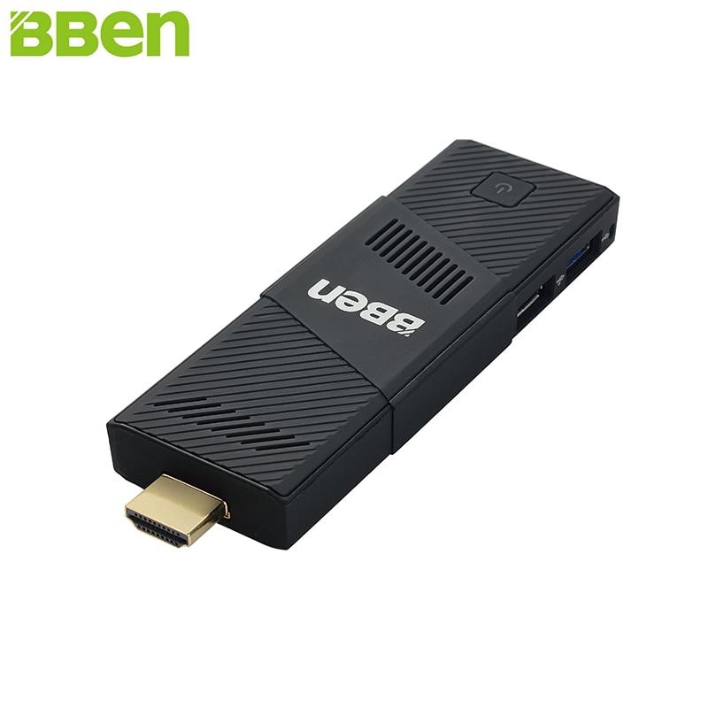 BBen MN9 Mini PC Stick Windows 10 Ubuntu Intel X5 Z8350 Quad Core 2G 4GB RAM Mute Fan WiFi Smart TV