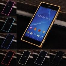 Pour Sony Z2 Z 2 pare-chocs en métal pare-chocs boucle housse pour Sony Xperia Z2 D6502 D6503 D6543 L50 L50w 5.2