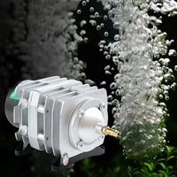 220v aquarium electromagnetic air compressor 40lmin 25w fish tank air pump increasing oxygen pump hailea aco 208 for