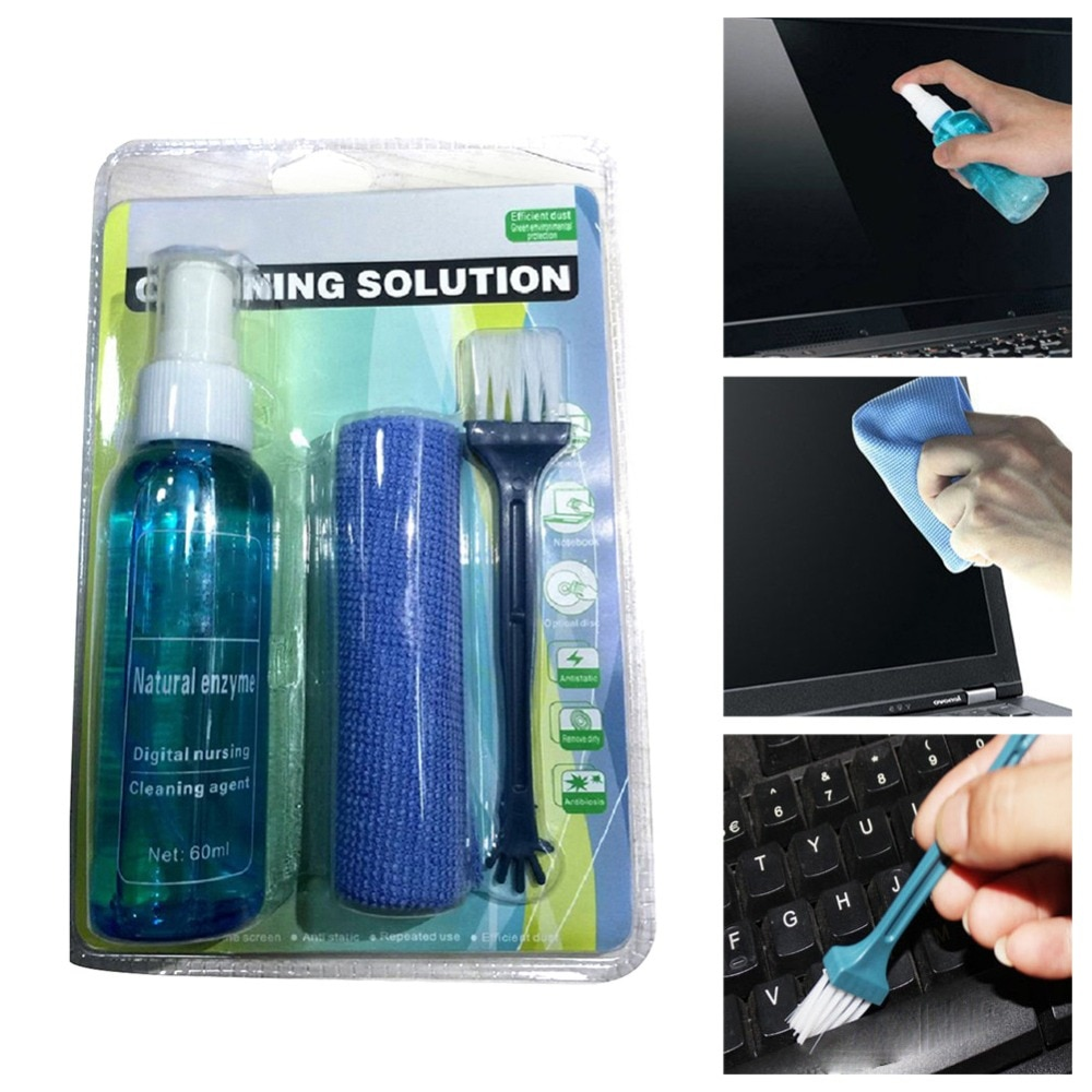 Practical Laptop Computer Cleaner Solution Mobile Phone SLR Camera Household 3Piece/Set