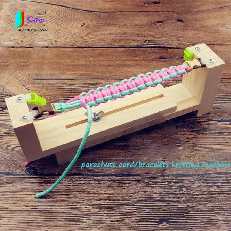 Outdoor Accessory Handmade DIY Prachute Cord/Bracelets/hand chain Tool Wooden Weave Machine S0569L