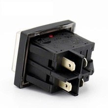 1 adet KEDU HY12 p12/10A 125/250V 4 Pins elektrikli alet pil paketi Rocker basmalı düğme anahtarı ile Gösterge Lambası Su Geçirmez ON-OFF Ark Anahtarları