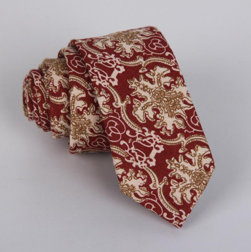 Tie Brand 11Colors Woven Wool Ties for Men Slim Skinny Narrow Linen Plaid Necktie Cashmere Gravata Wedding Party Gift Mens Ties