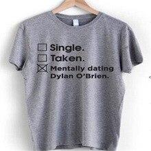 Unique Prises Mentalement rencontres Dylan O brien T-shirt mode tumblr T-shirt Unisexe décontracté top t-shirts T-shirt t-shirts drôles