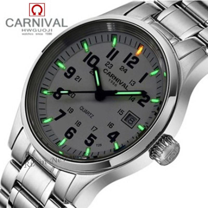 Tritium light brand watch women waterproof quartz luminous full steel luxury brand leather strap mens watches clock montre reloj