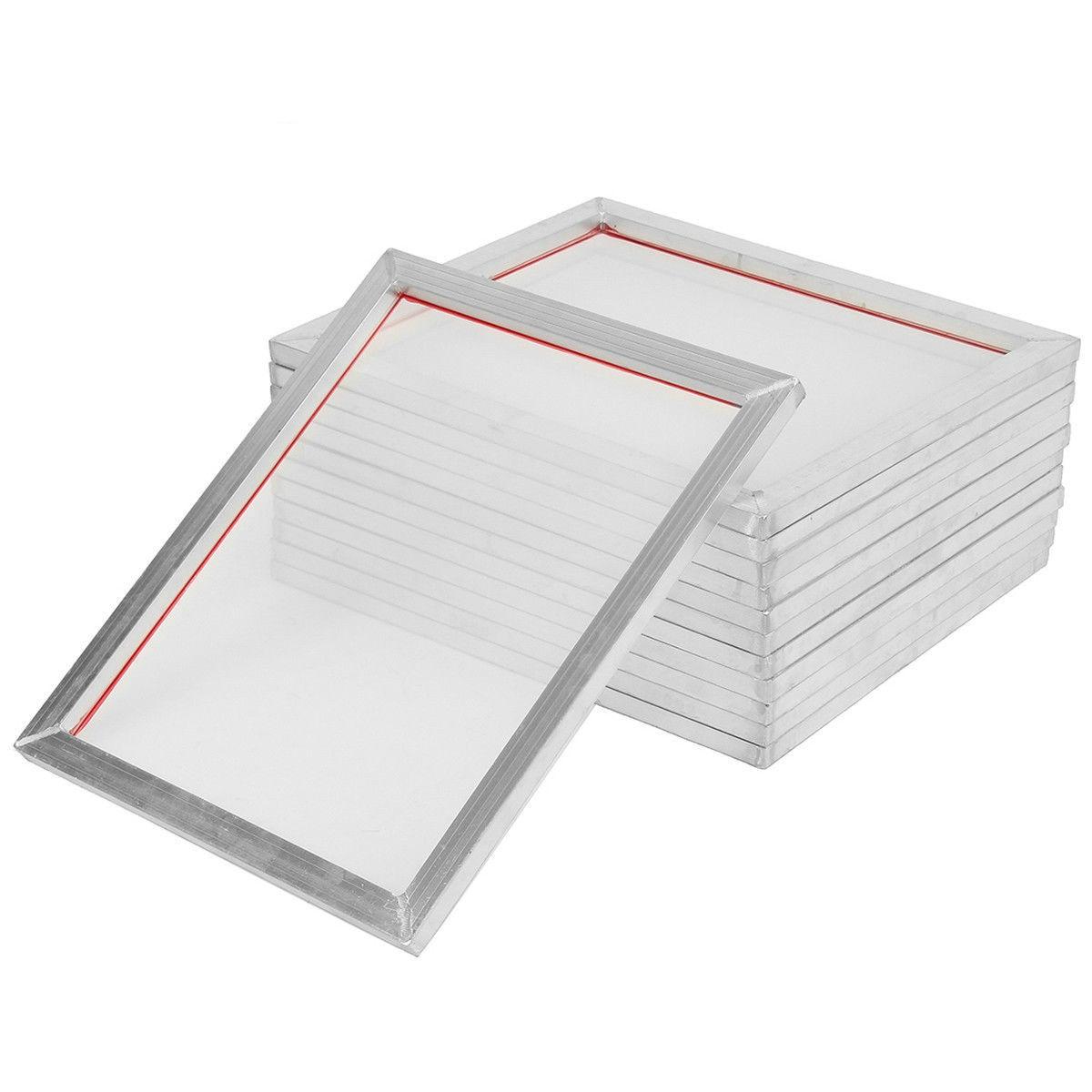 5 قطعة A5 شاشة الطباعة الألومنيوم الإطار امتدت 32*22 سنتيمتر مع 32T-120T الحرير طباعة شبكة بوليستر لوحات الدوائر المطبوعة