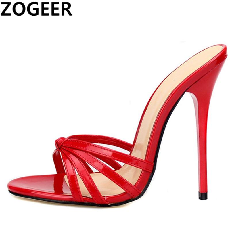 Zapatillas de talla grande 48 para mujer 2020, chanclas de tacón alto, zapatos de gran tamaño drag queen, tobogán súper ligero de tacón alto de 13cm