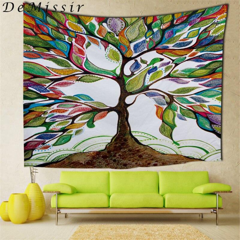 DeMissir Mandala Tapeçaria Tapeçaria decoração de Parede Casa Decorativo Pintura A Óleo Da Árvore 150x200 cm tapiz pared tenture goblen duvar