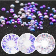 Décorations dart dongle strass Flash couleur Semi-Imitation perle ongles accessoires mobiles bricolage accessoires perlés 2U0719