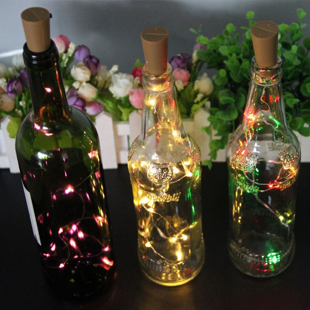 CARPRIE nuevo LED en forma de corcho 20 LED Hada de la noche Cadena de luz Kork Licht vino botella luces de fiesta celebración 22JUL10
