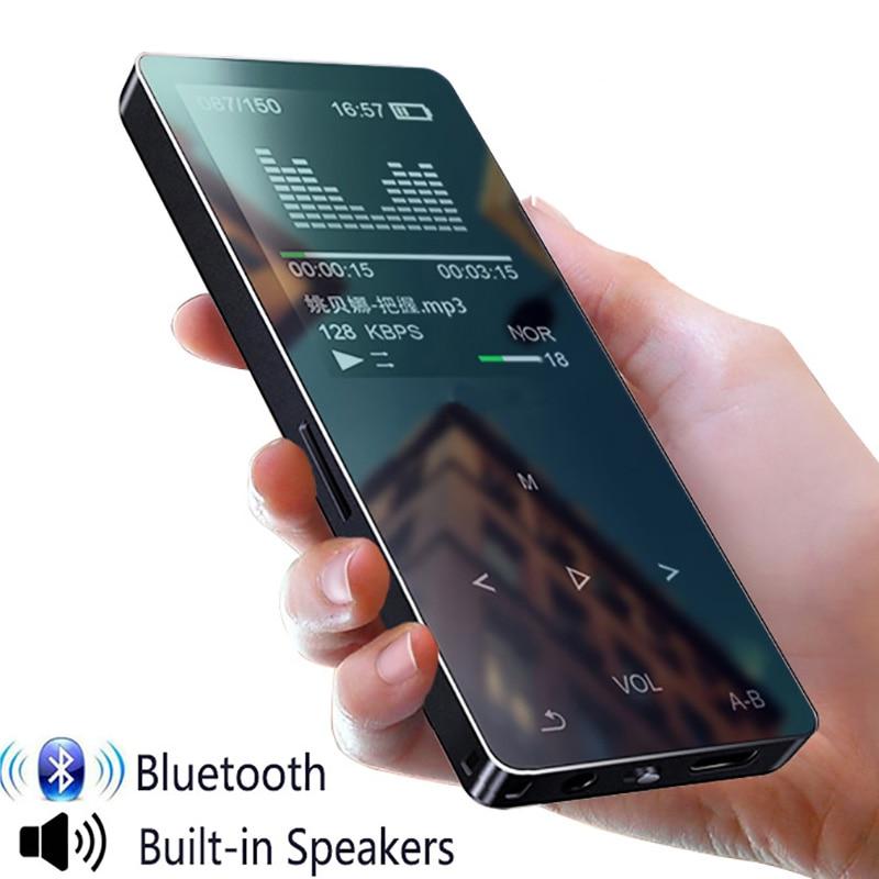 مشغل MP4 مع بلوتوث ومشغل موسيقى mp3 و mp4 و ith ومكبر صوت محمول و 4 وسائط وشاشة لمس نحيفة وراديو fm وفيديو Hifi سعة 16 جيجابايت