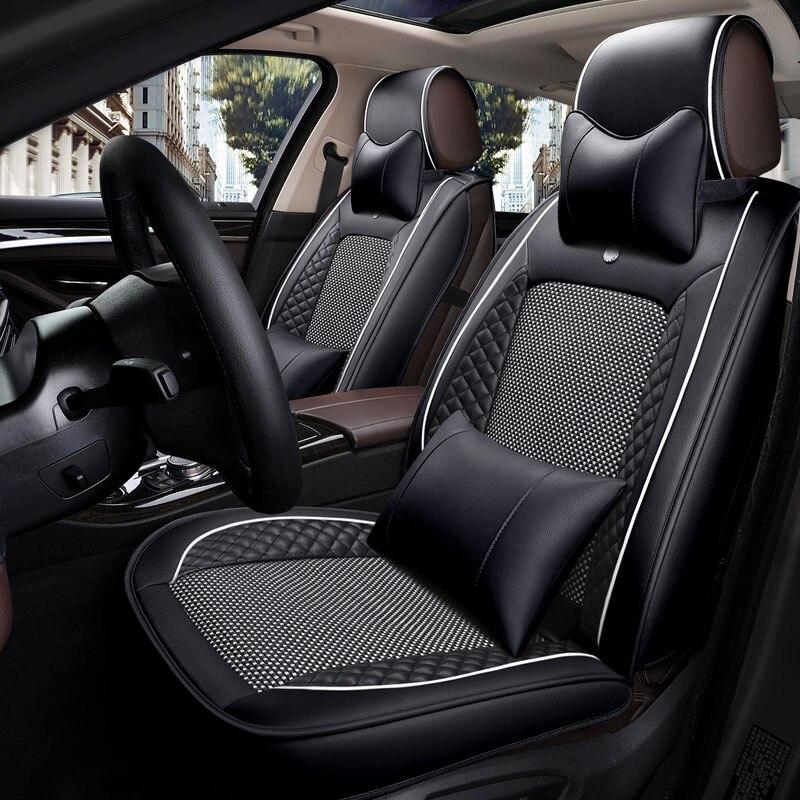 Cubierta de asiento de cuero de coche Universal auto cojín del asiento para toyota estima bmw e36 e38 e39 e46 e60 e70 e82 e84 x1 e87 e90 e91 e92 e30