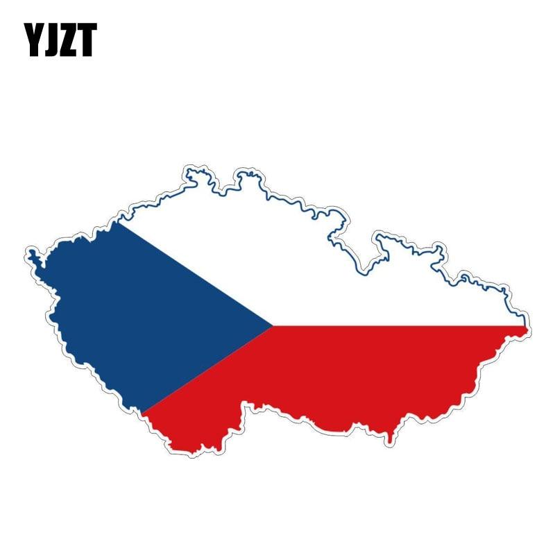 YJZT 14,8 CM * 8,5 CM personalidad República Checa mapa bandera pegatina coche bicicleta calcomanía 6-1185