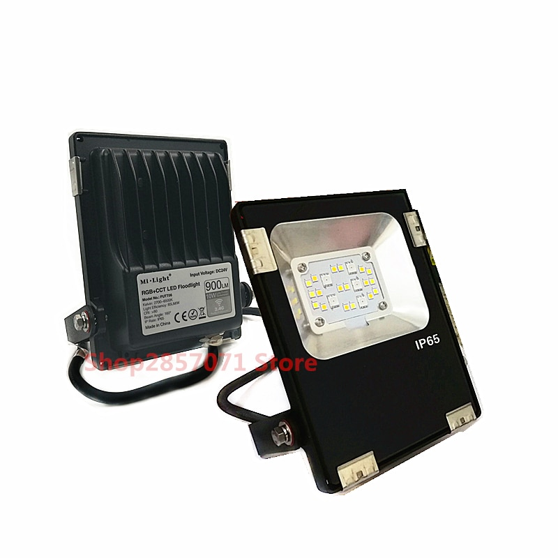 Reflector LED DC24V 10W RGB + CCT, Reflector inteligente LED, iluminación exterior, impermeable IP65