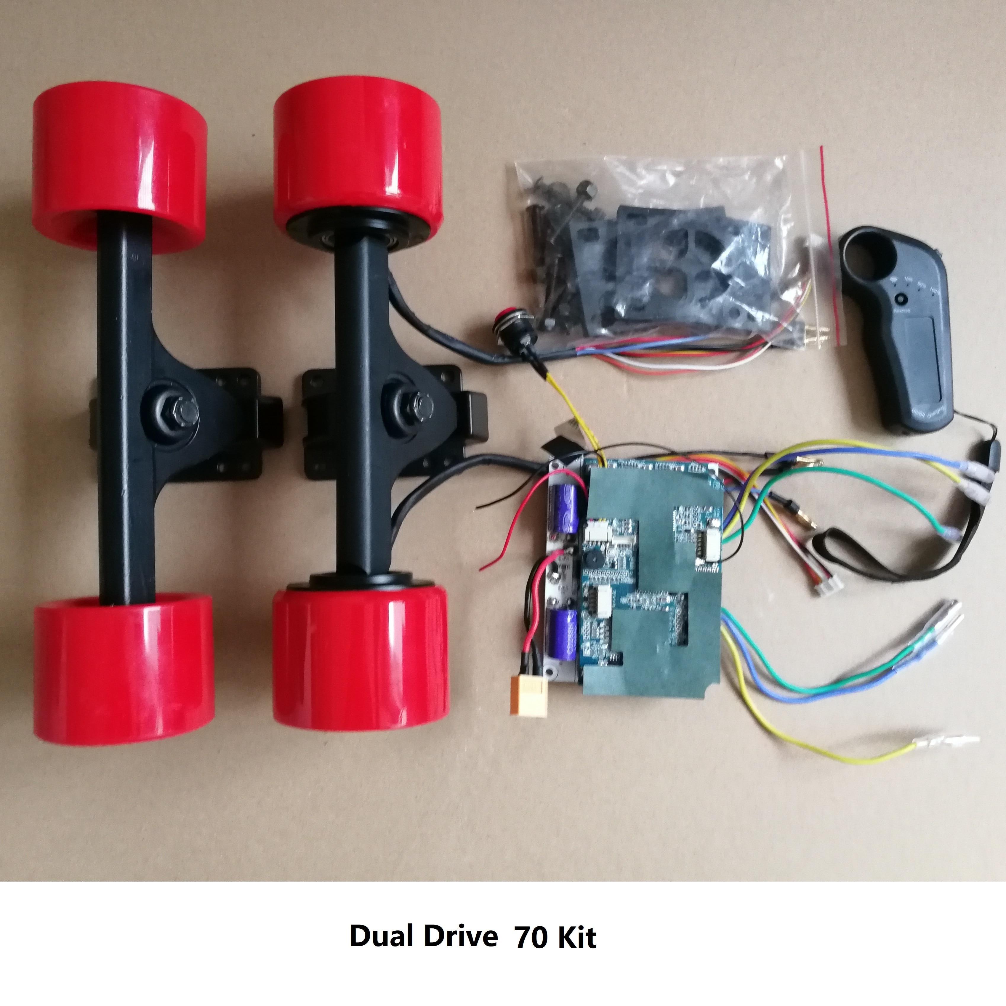 24v 36v BLDC 70 83 mm eléctrico de Control remoto patineta Longboard DIY kit de Mini Motor eléctrico equipaje rueda kit de bricolaje
