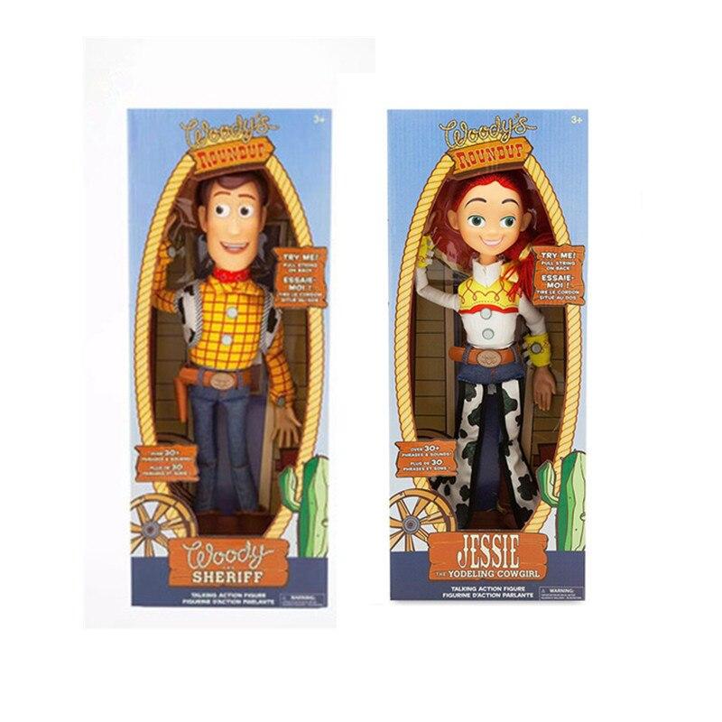 Disney 2020 Новая игрушка История 4 говорящая Джесси фигурки модель милые говорящие Вуди игрушки для детей подарок на день рождения с коробкой