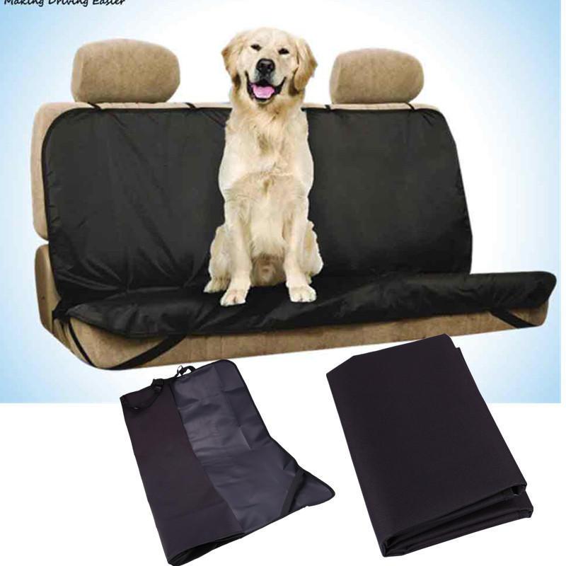 Universal Car Rear Seat Cover Rubber Band Fixed Pet Mat Anti Slip Cushion Waterproof Anti-dirty Black Protective Pad