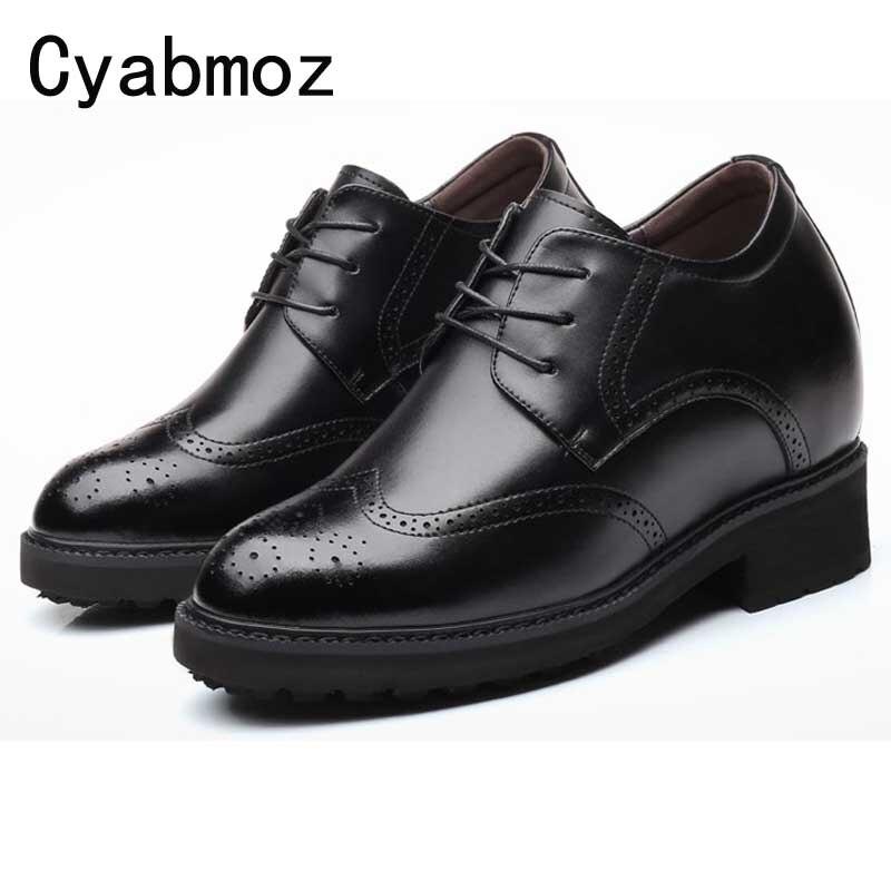 أحذية مصعد جلدية للرجال ، ارتفاع إضافي 4.7 بوصة ، 12 سنتيمتر ، للمناسبات الرسمية أو حفلات الزفاف