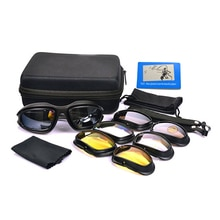 Polarized Tactical Goggles Military Sunglasses C5 Padded Frame With 4pair Lenses for Dirt Bike Motoc