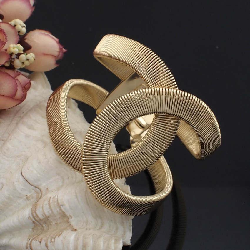 Женский браслет-манжеты UKEN, широкий весенний дизайнерский браслет из сплава