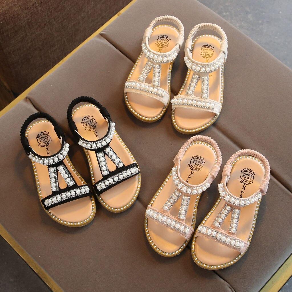 Bebé Niña Zapatos de niño pequeño niños niñas perla cristal princesa individual zapatos romanos zapato infantil menina6.356