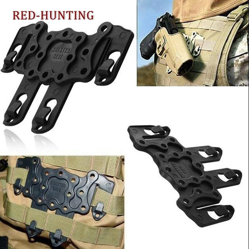 Molle de plataforma Tactical CQC gancho de fijación de plástico para cinturón de chaleco de utilidad MOLLE pistolera plataforma se adapta a USP Compact M9 G17